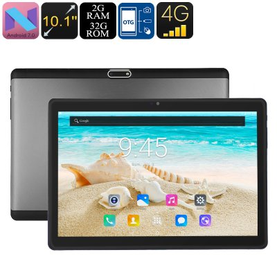 PB2 4G Tablet PC - Android 7.0, Dual-IMEI, 4G Support, Octa-Core CPU, 2GB RAM, 10.1 Inch HD Display, 5000mAh, WiFi, OTG - Beewik-Shop.com