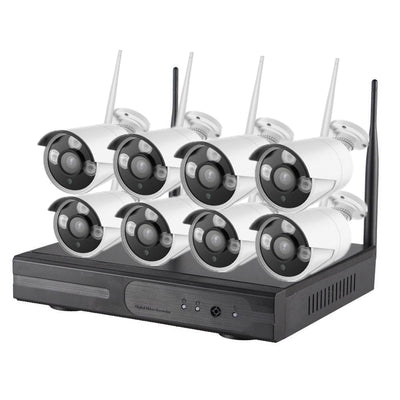 WiFi NVR Kit - 8 Cameras, 720p, 30m  Night Vision, IP67, IR Cut, App Support For iOS And Android 1TB HDD - Beewik-Shop.com