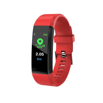 Pro5 Bluetooth Fitness Tracker - Heart Rate, Pedometer, Calorie Counter, Notifications, Calls, 0.96 Inch Screen, IP67 (Red) - Beewik-Shop.com