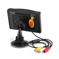 Rear View Parking Camera - 2.4G Wireless, 5-Inch Display, IR Night Vision, 800x480p, Waterproof Camera, 120-Degree Viewing Angle