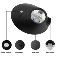 Solar Powered LED Light - 3 Light Modes, PIR Sensor, 300 Lumens, 4400mAh Battery, IP65 Waterproof