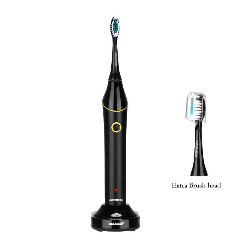 SOUNESS Sonic Electric Toothbrush - 3 Cleaning Modes, 3500 Strokes Per Minute, IPX7 Waterproof, 750mAh, Advanced Gum Care - Beewik-Shop.com