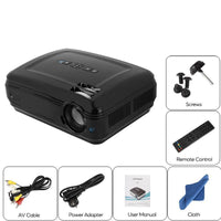 TFT LCD Projector - 1080p Support, 5.8 Inch LCD Panel, 2800 LED Lumen, 200 Inch Image Size, 6M Projection Distance, 155W LED
