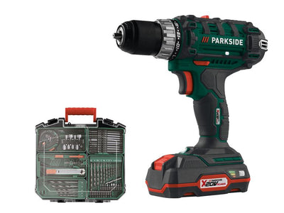 "PARKSIDE® ""PABS 20-Li"" cordless screwdriver, with 2 lithium-ion batteries, accessories 73 pieces - Beewik-Shop.com"