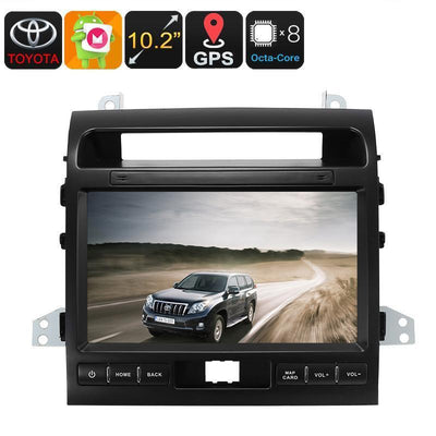 Two DIN Car Media Player - For Land Cruiser, 10.2 Inch, Android 6.0, Bluetooth, GPS, WiFi, 3G, Octa-Core CPU, 2GB RAM - Beewik-Shop.com