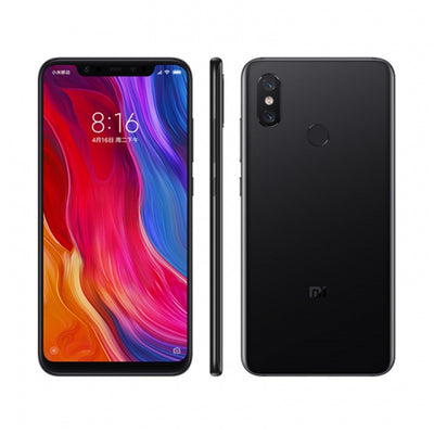 Xiaomi Mi 8 Smartphone - 6.21Inch AMOLED Screen, Octa Core, 128GB ROM, Dual GPS, Fingerprint, NFC (Black)