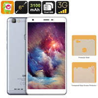 Uhans S3 Android Smartphone - Quad-Core CPU, Dual-IMEI, 6-Inch HD Display, Android 6.0, 3G, Bluetooth, Google Play, 3100mAh