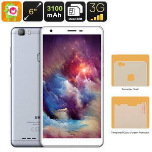 Uhans S3 Android Smartphone - Quad-Core CPU, Dual-IMEI, 6-Inch HD Display, Android 6.0, 3G, Bluetooth, Google Play, 3100mAh - Beewik-Shop.com