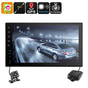 Universal 2 DIN Car Stereo - Android 6.0, WiFi, CAN BUS, GPS, Octa-Core CPU, 2GB RAM, 7 Inch HD, Car DVR, Rear View Camera - Beewik-Shop.com
