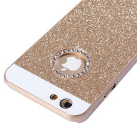 UV Shimmering Powder Diamond-encrusted Protective Hard Case for iPhone 6 & 6S(Gold) - Beewik-Shop.com