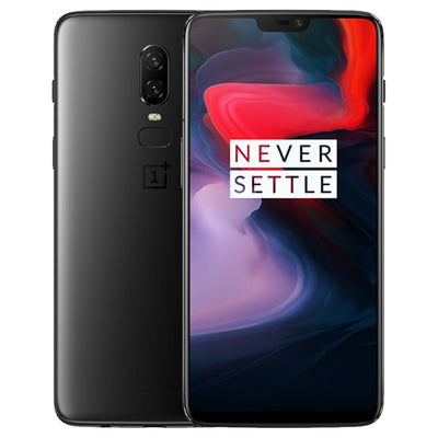 OnePlus 6 Android Phone - 6.28 Inch Optic AMOLED Screen, Snapdragon 845 CPU, 256GB ROM, Dual Rear Camera (Midnight Black) - Beewik-Shop.com