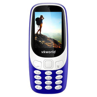 VKWorld Z3310 Cell Phone - 2.4 Inch Display, Number Pad, Bluetooth, Dual-IMEI, 2MP Camera, 1450mAh