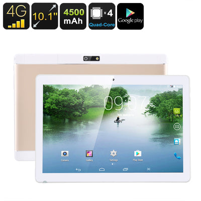 4 G tablets -Android 6.0, dual imei, 4 G support, 4 core CPU, 1 GB memory, 10.1 inch hd display, 4000 mAh, WiFi, OTG - Beewik-Shop.com