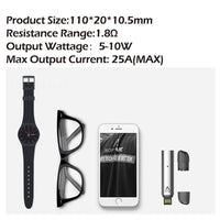 Warlock PEAS Vape Pen - Sleek And Mini Design, 10W, Airflow Switch, 1.8-Ohm, 380mAh, 1.5ml Tank, USB Charging (Black)