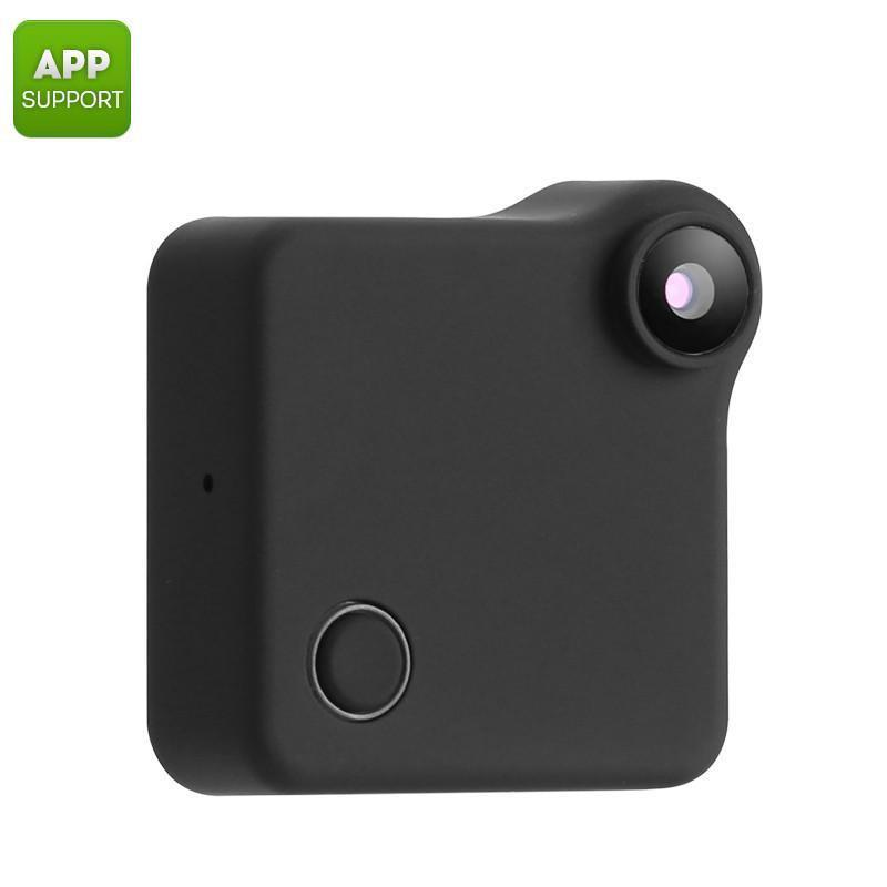 Wearable Mini WiFi Camera - 720p Resolution, Motion Detection, CMOS Sensor, App Support, 32GB SD Card Slot, 90-Degree, 600mAh - Beewik-Shop.com