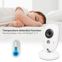 Wireless Baby Monitor - 3.2 Inch Display, Temperature Monitor, Dual-Way Audio, 2.4GHz Wireless, Play Songs, 5M Night Vision
