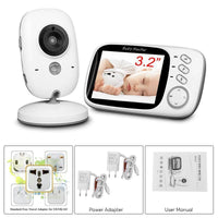 Wireless Baby Monitor - 3.2 Inch Display, Temperature Monitor, Dual-Way Audio, 2.4GHz Wireless, Play Songs, 5M Night Vision - Beewik-Shop.com