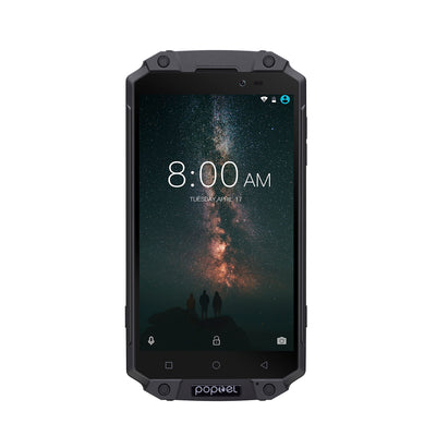 Preorder POPTEL P9000 MAX Android Phone Black - Android 7.0-4GB RAM, 5.5-Inch FHD, IP68, Dual-IMEI - Beewik-Shop.com