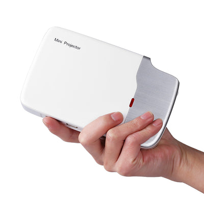 Mini DLP Projector G605 - Android 5.0 OS, 150 ANSI Lumen, 1000_1 Contrast Ratio, 5400mAh Battery, Wi-Fi, Bluetooth, HDMI, USB