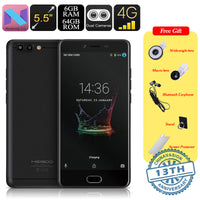 Meiigoo M1 Android Phone - Octa-Core CPU, 6GB RAM, 16MP Dual-Rear Camera, Android 7.0, 5.5 Inch FHD, 4000mAh, 4G (Black) - Beewik-Shop.com