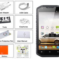 No. 1 X6800 Smartphone IP68 - 4G, CPU Quad Core, 13MP, Android 4.4 (noir) - Beewik-Shop.com