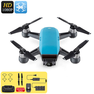DJI Spark Mini Drone - 1080P Camera, 12MP CMOS, 3D Sensor System, WiFi, FPV, 50KM/h, Gesture Mode, Auto Take-Off And Landing - Beewik-Shop