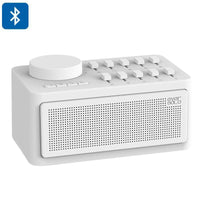 Zidoo White Noise Generator - Sleep Therapy, Bluetooth Support, Ten Sound Effects, AUX Input, Three Timer Modes