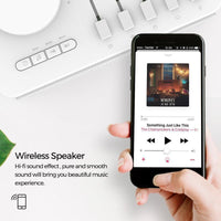 Zidoo White Noise Generator - Sleep Therapy, Bluetooth Support, Ten Sound Effects, AUX Input, Three Timer Modes - Beewik-Shop.com