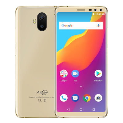 AllCall S1 Smartphone - Android 8.1 OS, 5.5-Inch Display, 5000mAh Battery, Front & Rear Camera (Gold)