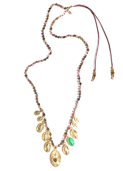 Epure Medals Necklace Pink
