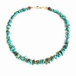 Turquoize Chips Necklace