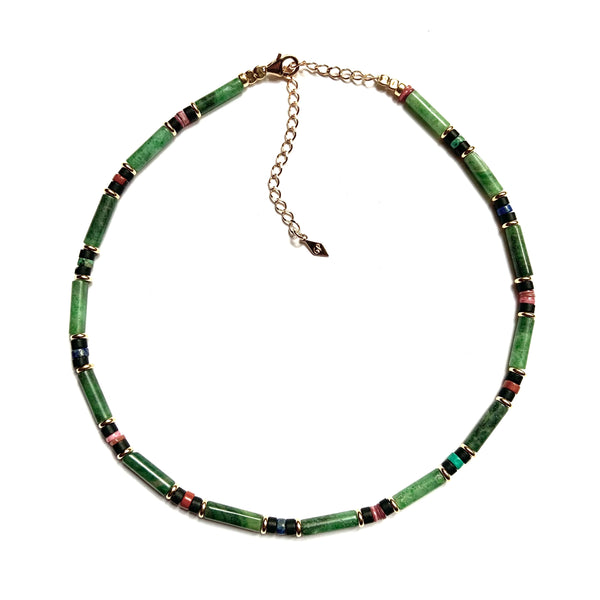 Diego Necklace Tubes Agate