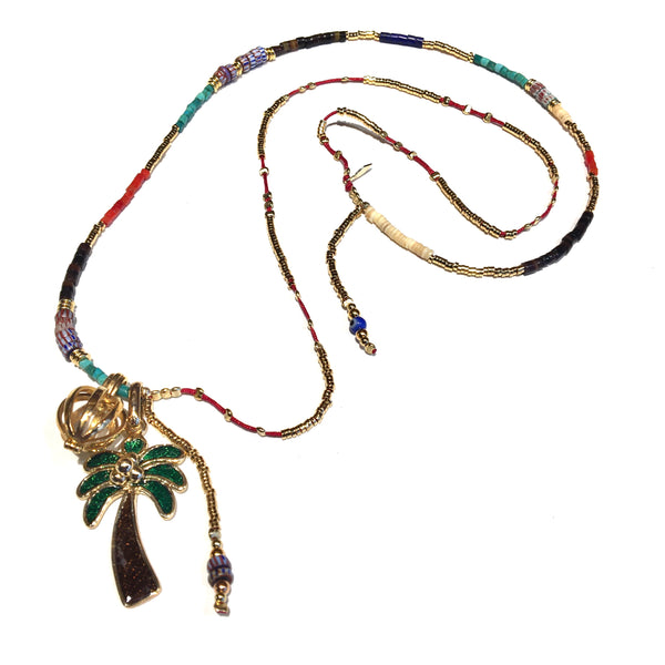 Shell Long Palm Necklace