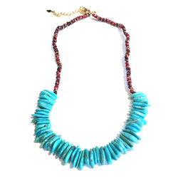 Handwoven Turquoise Petals Necklace