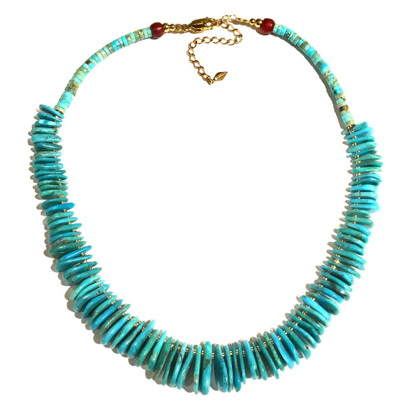 Turquoise Petals Necklace