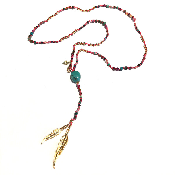 Handwoven Rosary Necklace