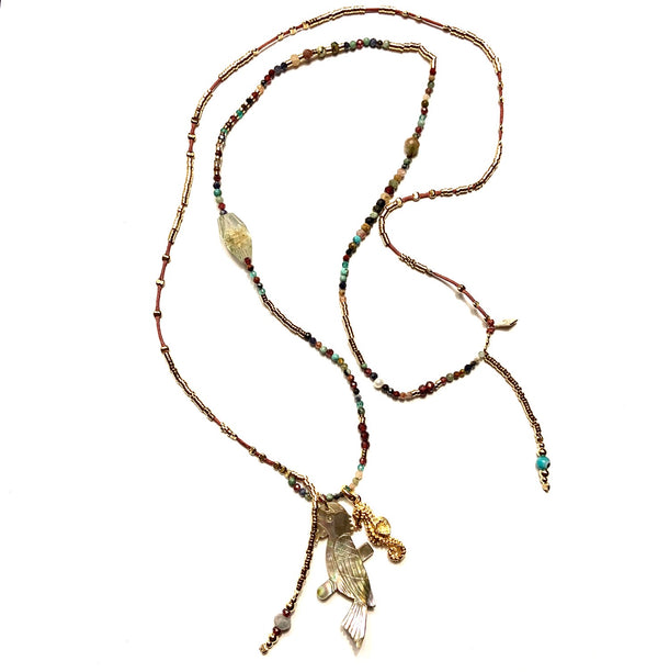 Gems Long Parrot Necklace