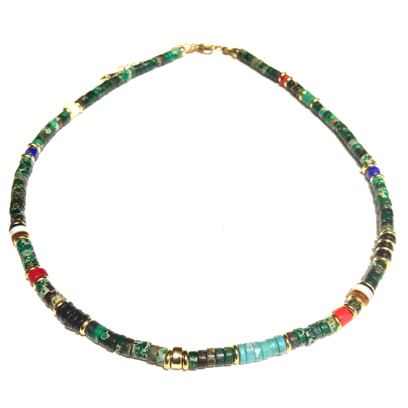 Puka Diego Necklace Jasper