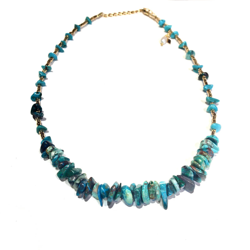 Romane Necklace Turquoise Chips