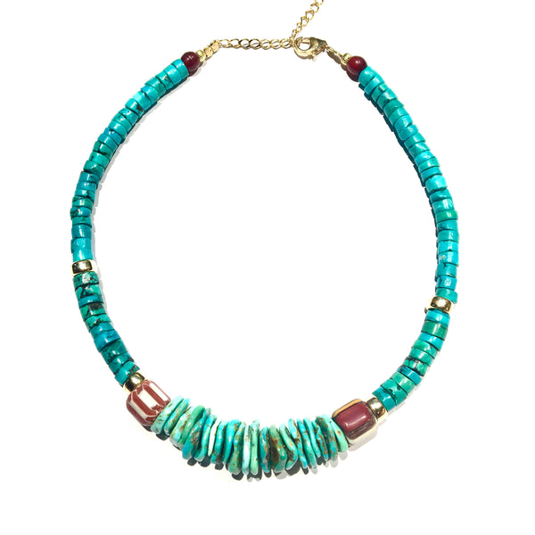 Short Africa Turquoise Necklace