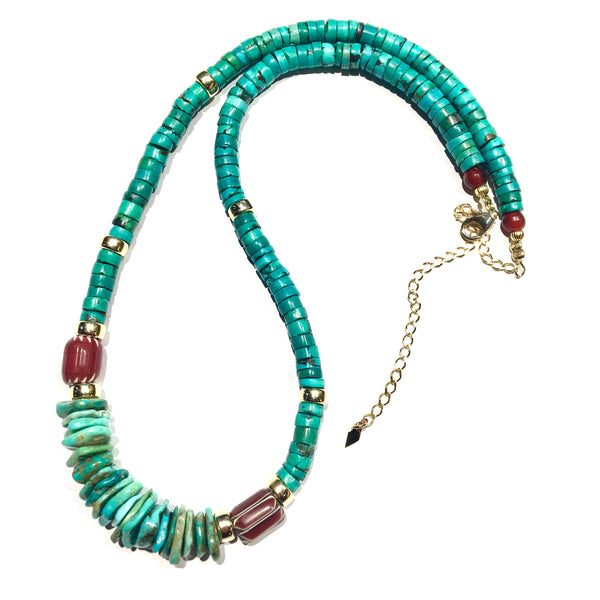Long Africa Turquoise Necklace