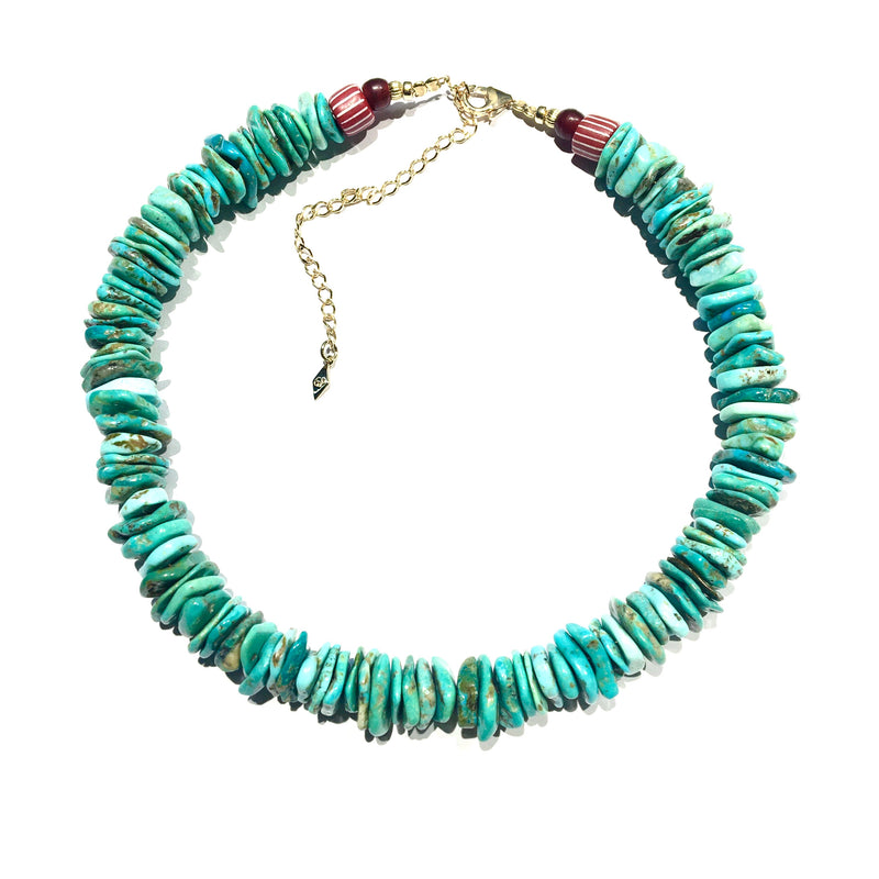 Turquoise chips Necklace XXL