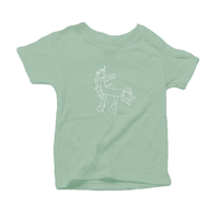 Magical Unicorn, Organic Toddler T-Shirt (7 colors available)