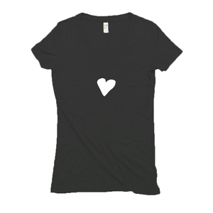 Ladies Organic Hemp Heart V-Neck T-Shirt