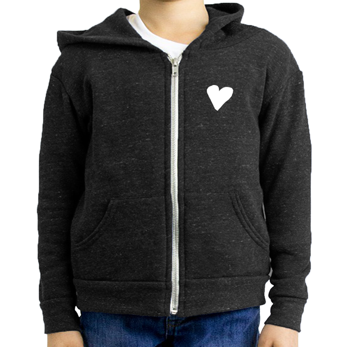 Youth Triblend Fleece Zip Hoodie  (7 colors available)