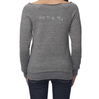 Free to be Me! - Ladies Eco Triblend Fleece Raglan w/front pouch pocket (2 colors available)