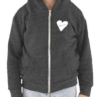 Sensitive Heart, Toddler Triblend Fleece Unisex Zip Hoodie (7 colors available)