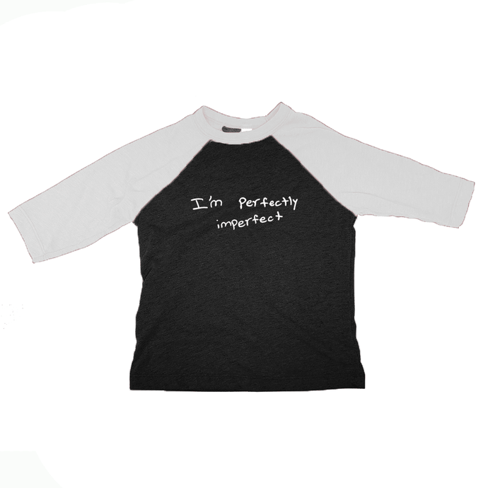 I'm Perfectly Imperfect, Toddler Unisex 3/4 Baseball Tee