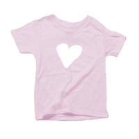 Organic Toddler Unisex T-Shirt, White Heart (7 colors available)