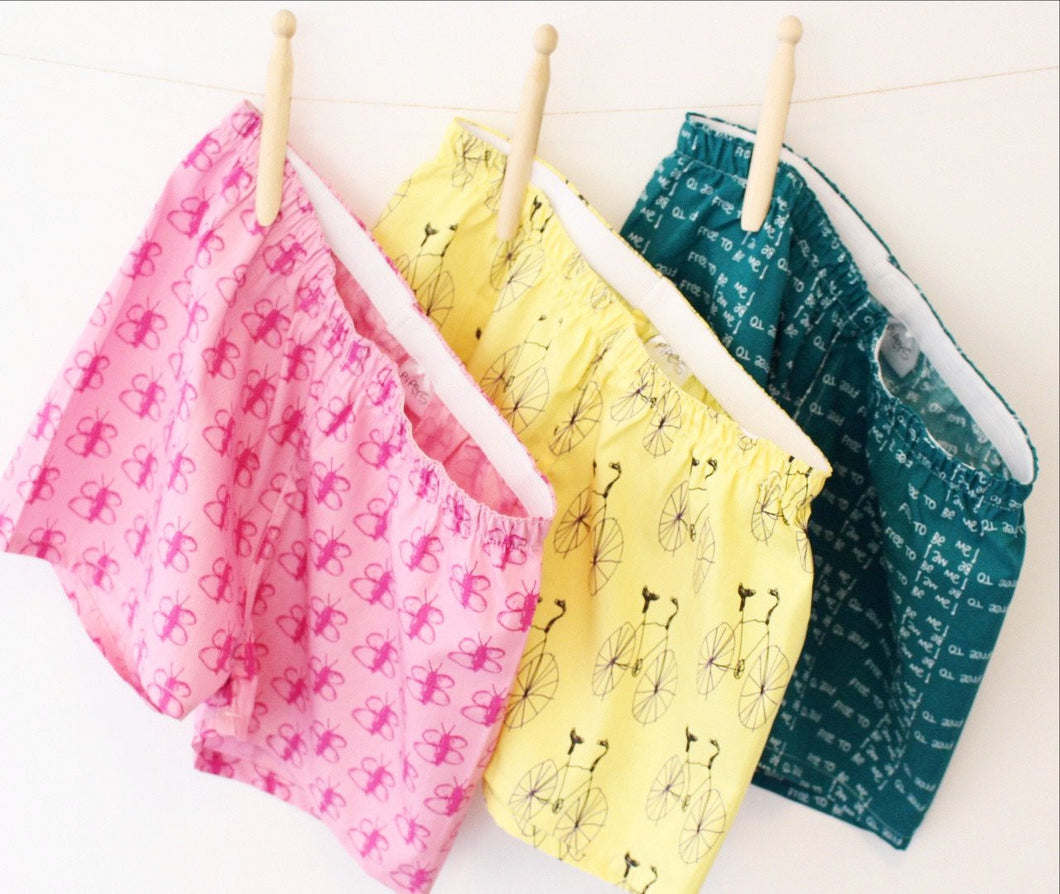 3-Pack MyPipers 10% off! My Pipers boxer shorts low rise waist band for comfy fit. Certified organic cotton drawn by children.@mypipers #mypipers mypipers.world